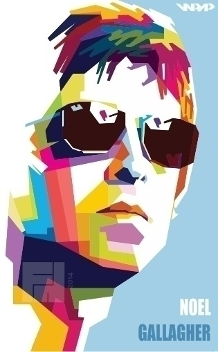 Noel Gallagher - digitalart, art - fh21 | ello