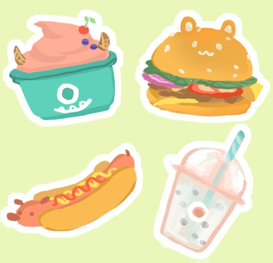 food stickers - digitalart - llyvn | ello