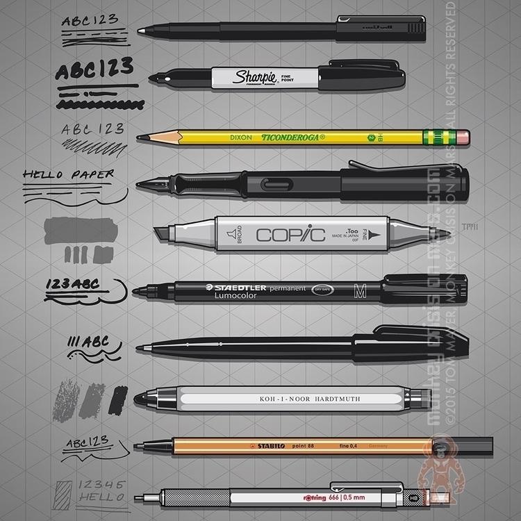 Examples basic pens sketching.  - monkeycrisisonmars | ello