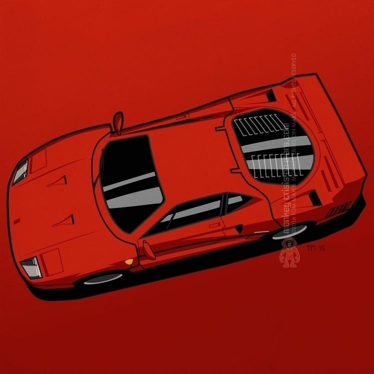 Ferrari F40 - ferrari, ferrarif40 - monkeycrisisonmars | ello