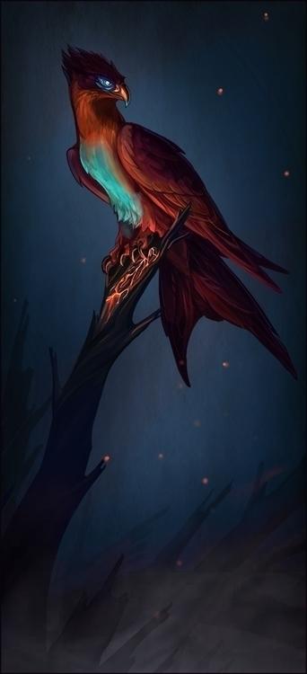 phoenix, bird, fire - c3rmen | ello