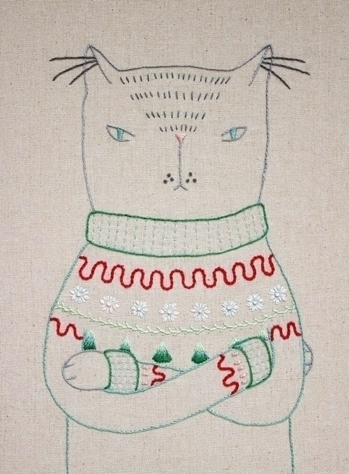 Ugly Xmas Sweater Cat - cateanevski | ello