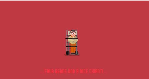 Hannibal Lecter pixel art - illustration - planckpixels | ello
