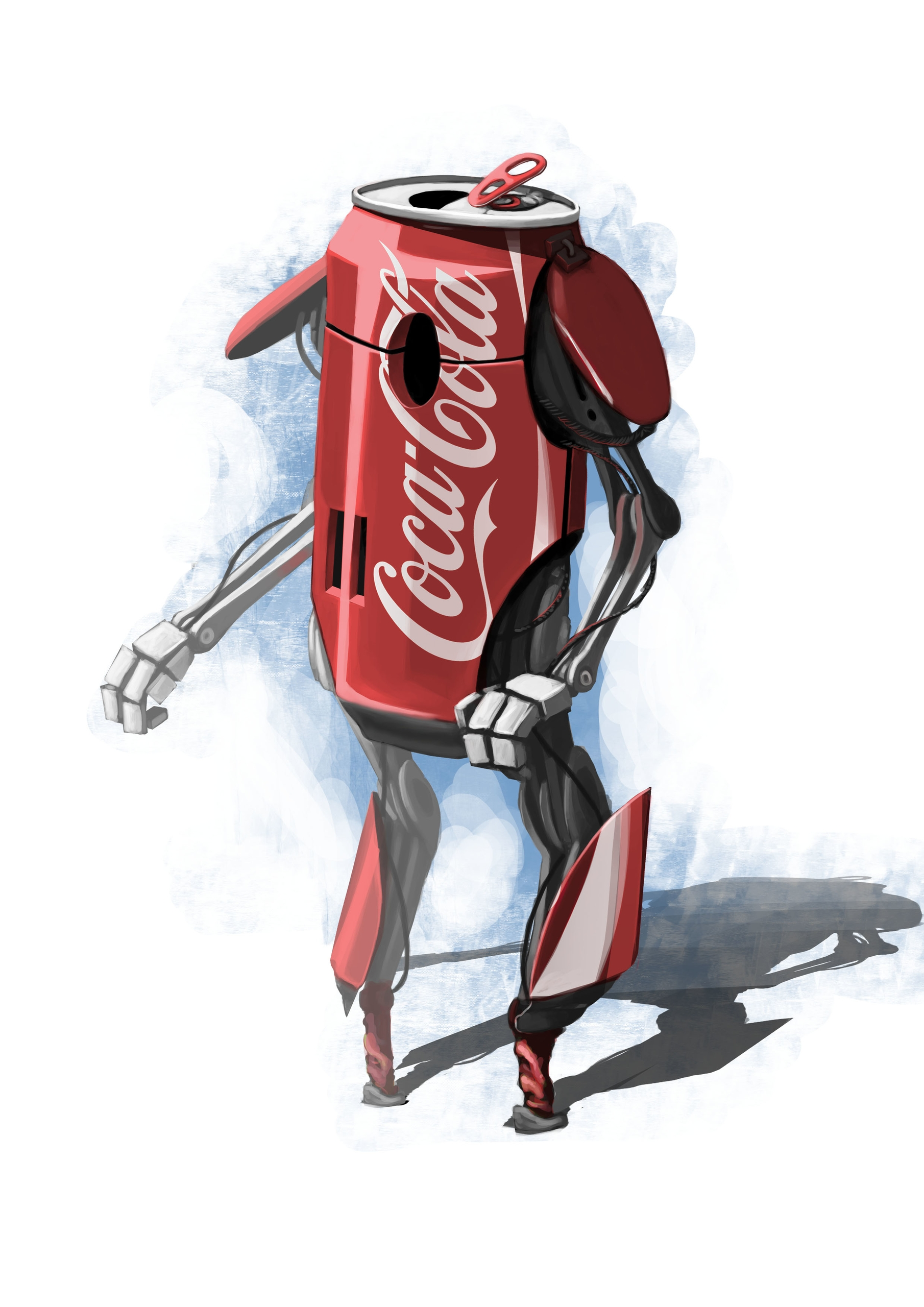 Coca Cola Robot - illustration#digitalart#design#characterdesign#photoshop#painting#davisvrworks#drawing#conceptart - prodgrafic | ello
