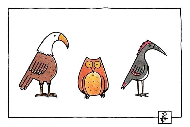 Birds - illustration, painting, icon - marcorizzi-1205 | ello