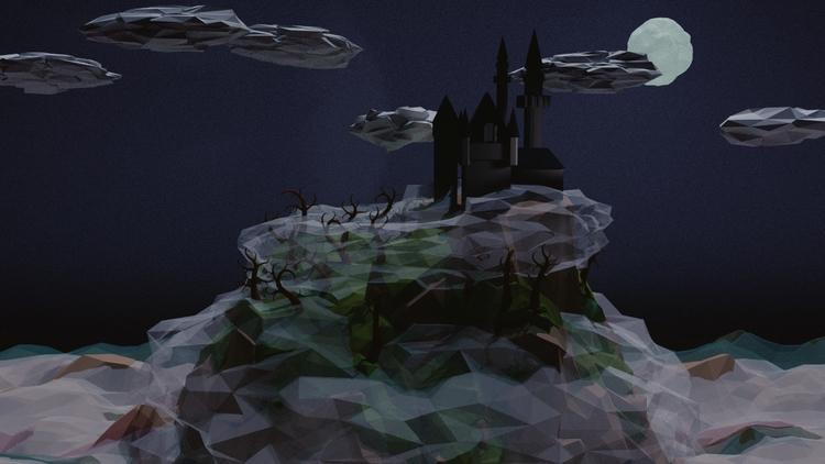 Spooky Land Poly - stuartdeville | ello
