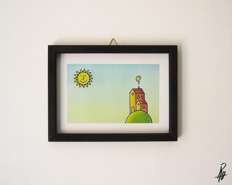 Day (handmade frame - illustration - marcorizzi-1205 | ello