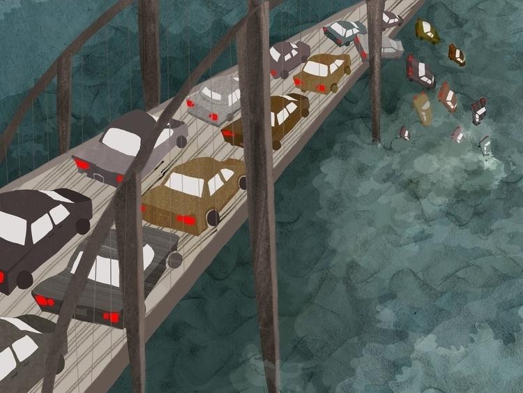 Bridge - bridge, traffic, suicide - charlottekingstonlarson   ello