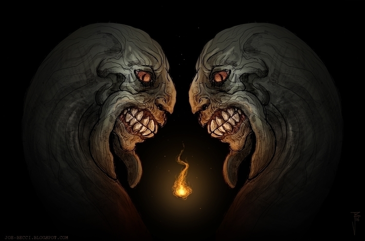 Dark Souls fan art - Primordial - joebecci | ello