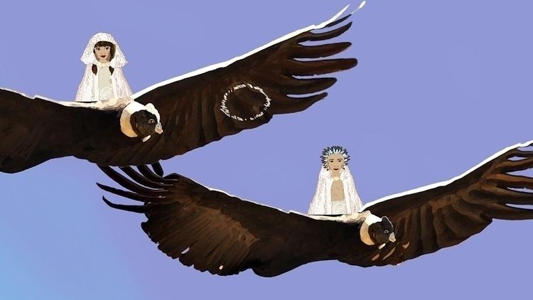 visitation Sky Royals - illustration - mkbarr | ello