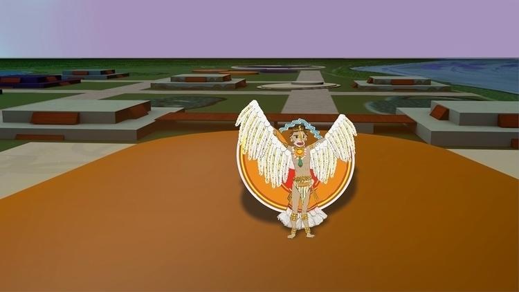 opening sun dance - animation, illustration - mkbarr | ello