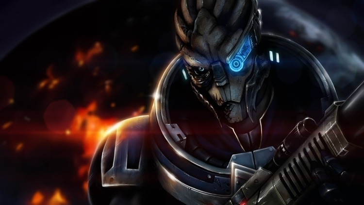 Fan art featuring Garrus video  - penguinstein | ello