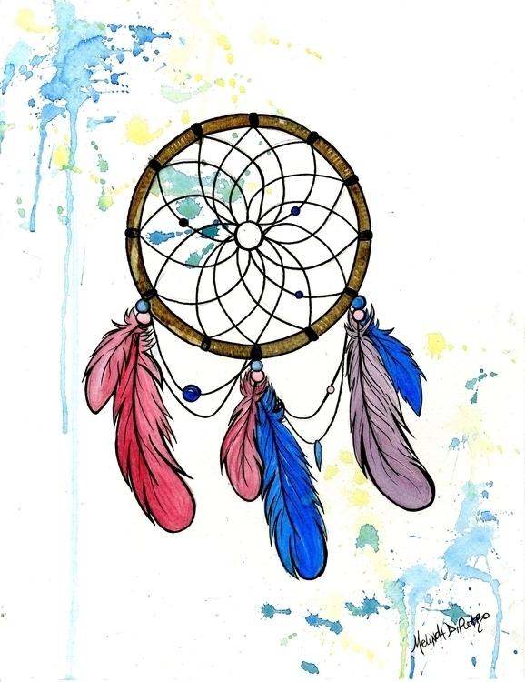 Dreamcatcher Feathers - dream, dreams - melindadipietro   ello