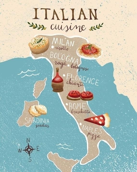 Italian Cuisine Region Illustra - estherloop | ello