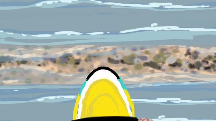 Marc fun jetskiing - illustration - mkbarr | ello