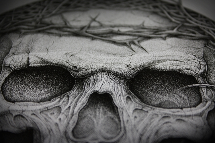 Confined - dotwork, illustration - artsc0re | ello