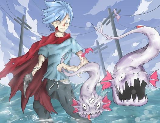 x__x - reaper, fishes, dragon, cape - sergithedoor | ello