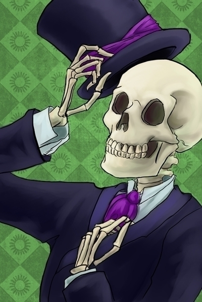 digitalart, skeleton, skull, tophat - foolishmortal-9324 | ello