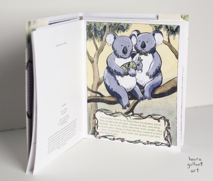 Koala Sample Pen Ink, Watercolo - lgallantart   ello