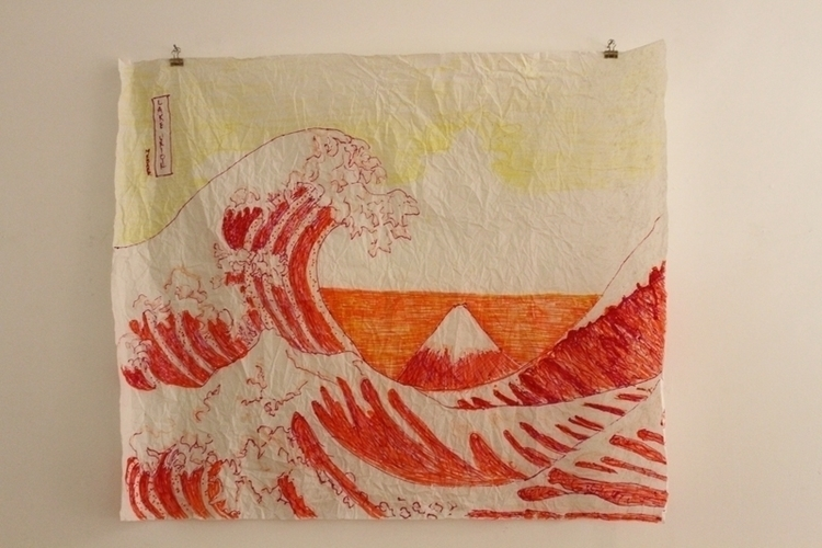 Lake Union Great Wave - illustration - mkbarr | ello