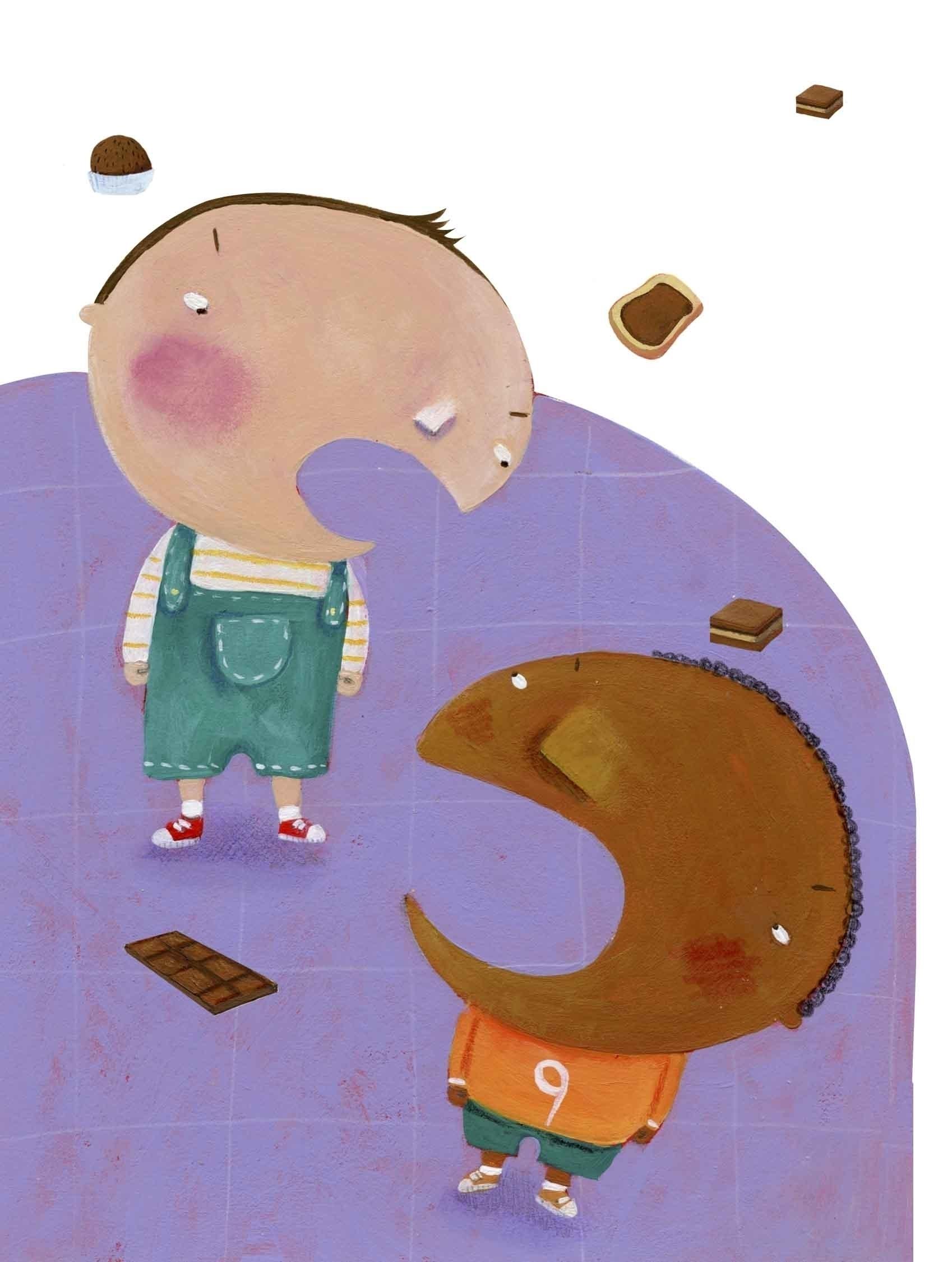 Il mio amico di cioccolato - illustration - francescaassirelli | ello