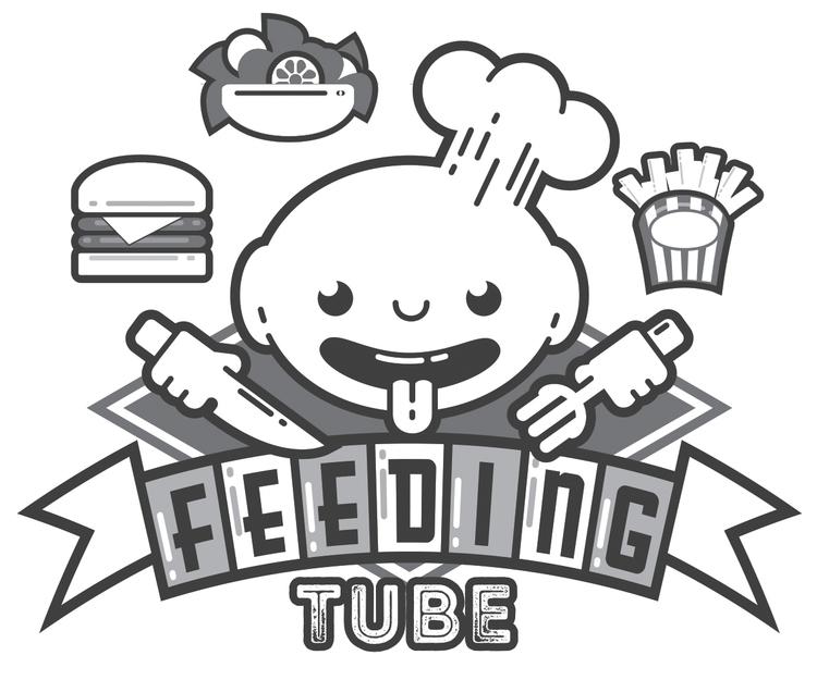 Feeding Tube concept logo Youtu - paperghostdesign | ello