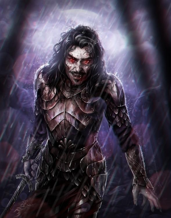 """Dracula"" - Digital painting cr - penguinstein | ello"
