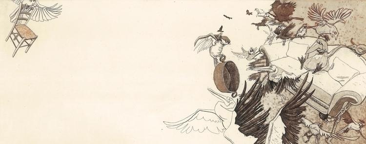 illustration, etching - maukins   ello
