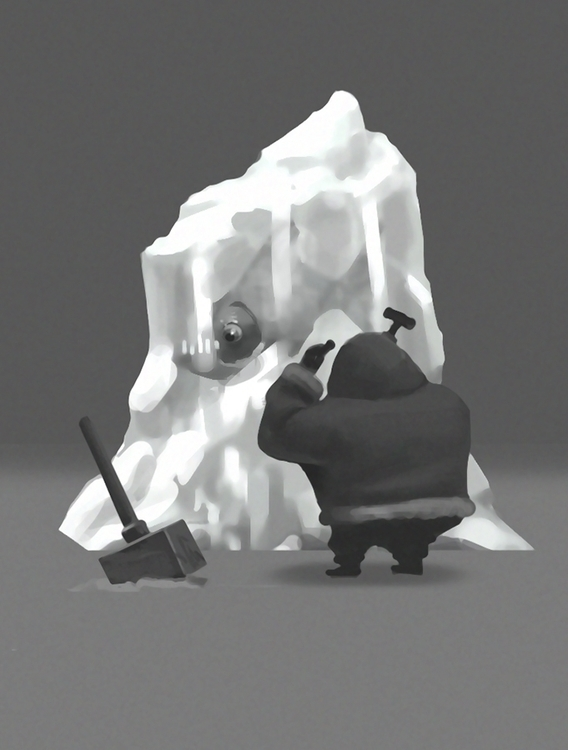 ice - illustration, painting - igorkozhanov | ello