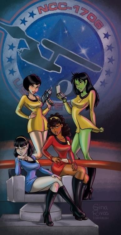 Star Trek - startrek, fanart, girls - ginarivas | ello
