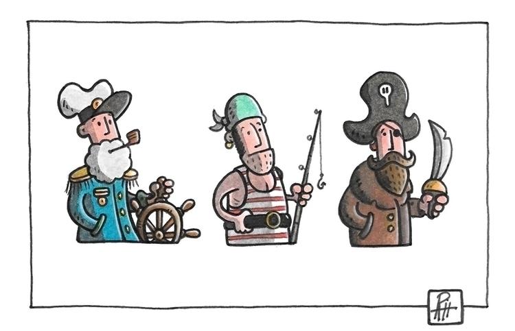 Sailors - illustration, painting - marcorizzi-1205 | ello