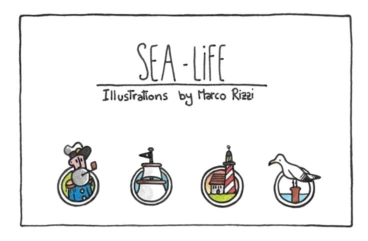 Sea Life (cover - illustration, painting - marcorizzi-1205 | ello