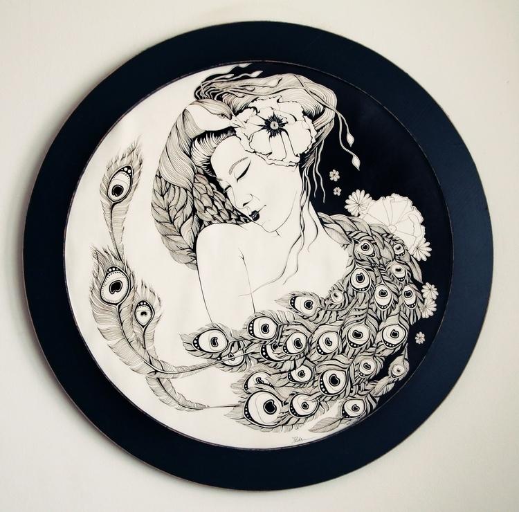 Asian Song - ink, illustration, traditional - ioanaz   ello