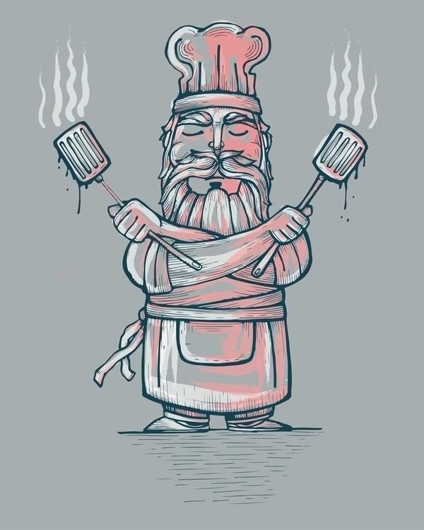 chef,illustration,drawing,hat,spatulas,man,apron,illustration,drawing - bernardojbp | ello