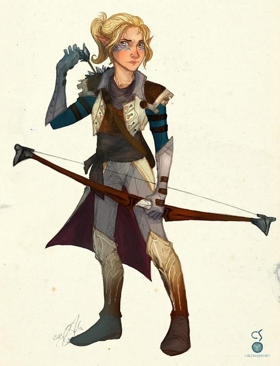 Calypso Lavellan Inquisitor Dra - thecapturedspy | ello