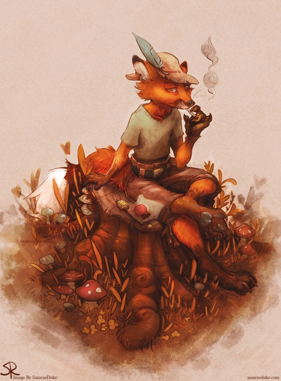 Hipster Fox! Pscs5 - illustration - samraeduke | ello
