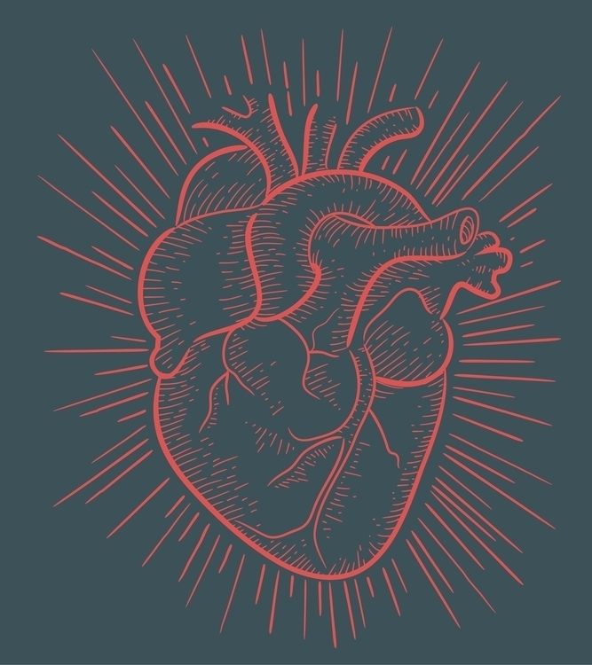 Heart red - heart,human,muscle,veins,arteries,red,blood,illustration,drawing - bernardojbp | ello