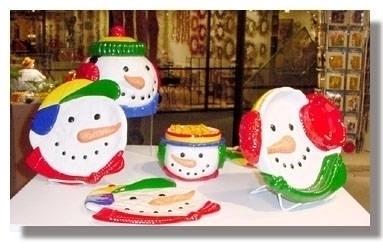 Snow Buddies- ceramic holiday s - sstruck   ello