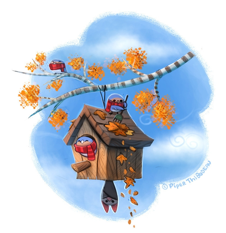 Daily Paint Autumn - 1046. - piperthibodeau | ello