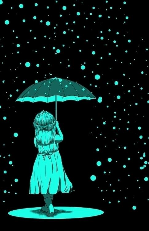 illustration, umbrella, artwork - fahmiyudhantoro | ello