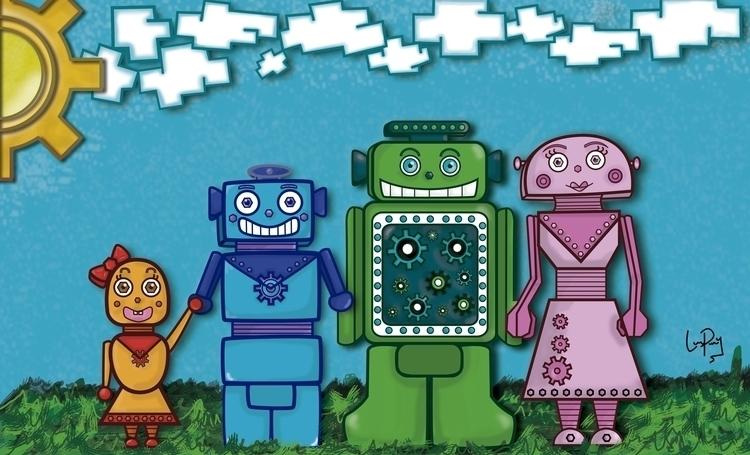 Nuts Family - nuts, robots, family - linalejandrapm | ello