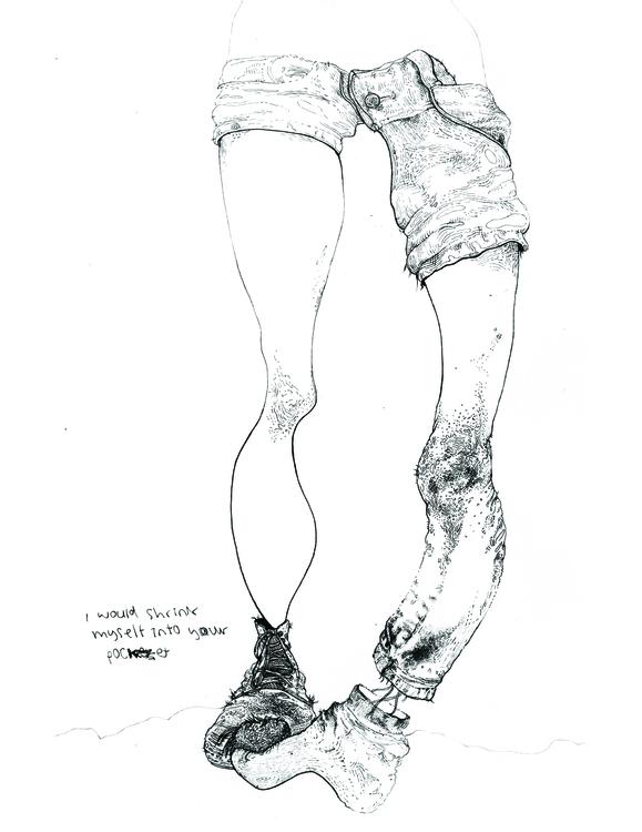 illustration, pen, handdrawn - angelafuhrms   ello