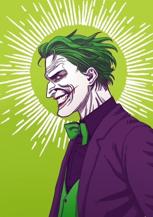 thejoker, illustration - awrugro | ello