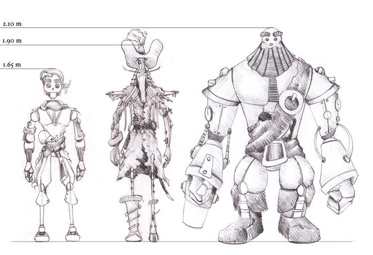 Comparison characters - characterdesign - rubenmartins | ello