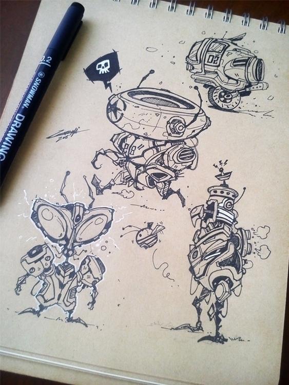 Studying exploring - drawing, sketch - adhityazul-2567 | ello