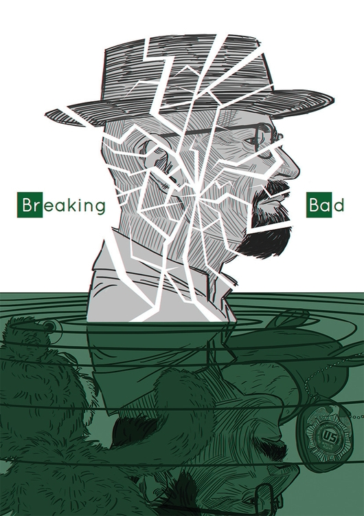 Breaking Bad - Walter White - illustration - awrugro | ello
