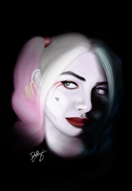 Harley Quinn Digital Painting - illustration - danamalang | ello