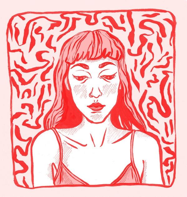 illustration, girl, portrait - keit | ello