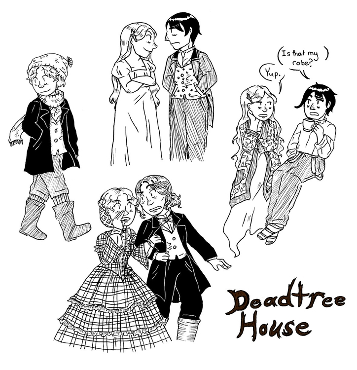 deadtree house pinup - webcomics - norathebean | ello