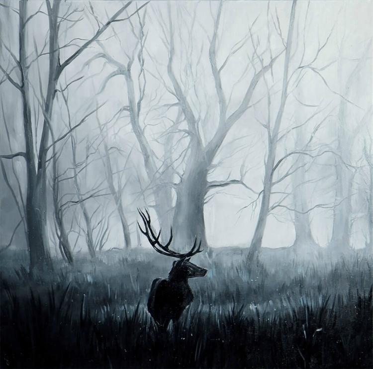 Deer - deer, cold, mist, forest - lanamarandina | ello